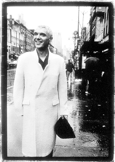 David Byrne has found peace after many tumultuous years with Talking Heads. The singer-songwriter has dabbled in everything from Latin dance to orchestral music, released five albums and developed a record label called Luaka Bop. Publicity still.