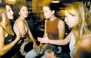 From left, Megan O'Connell, Stormy Havice, Kate Manganaro and Dona Ropp chat at Murphy's Bar & Grill. Photo by Rebecca Breyer • The Honolulu Advertiser